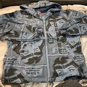 Supreme x thrasher boyfriend hooded zip-up jacket